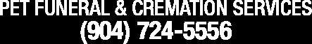 Pet Funeral Services | (904) 724-5556